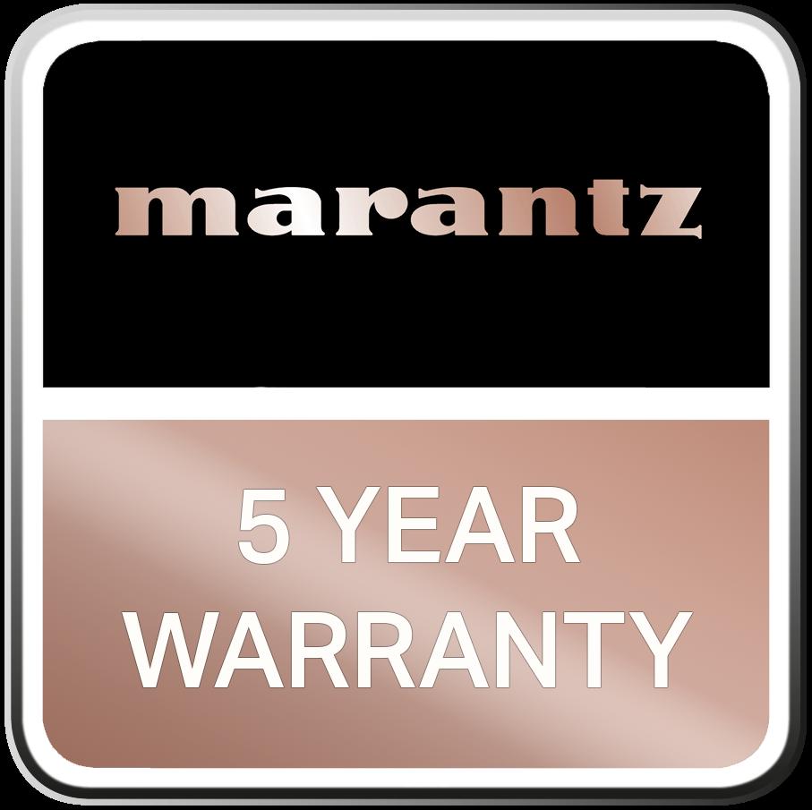Marantz 5 vuoden takuu