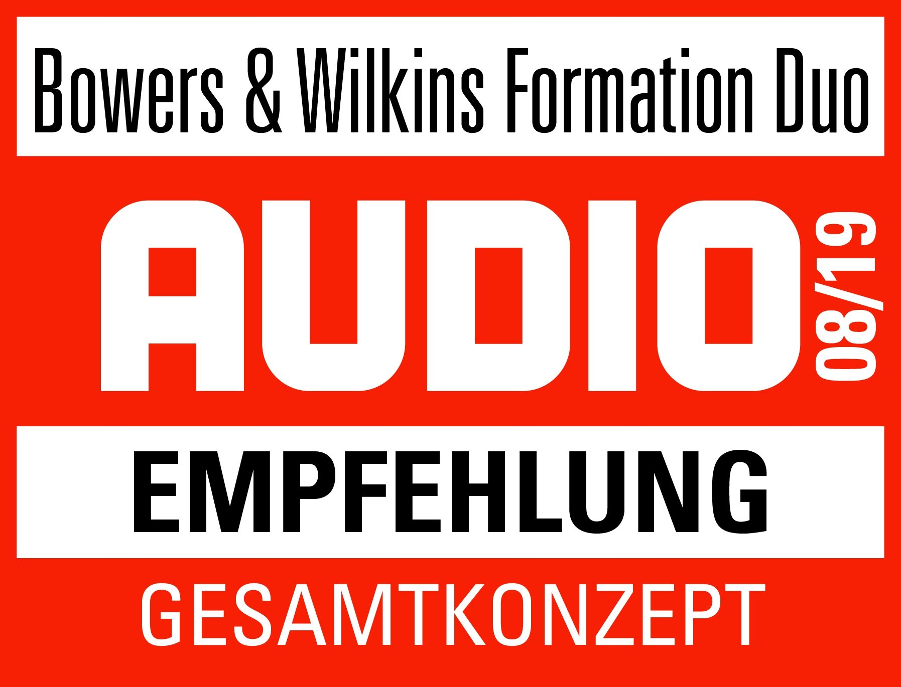 Bowers & Wilkins Formation Duo Awards