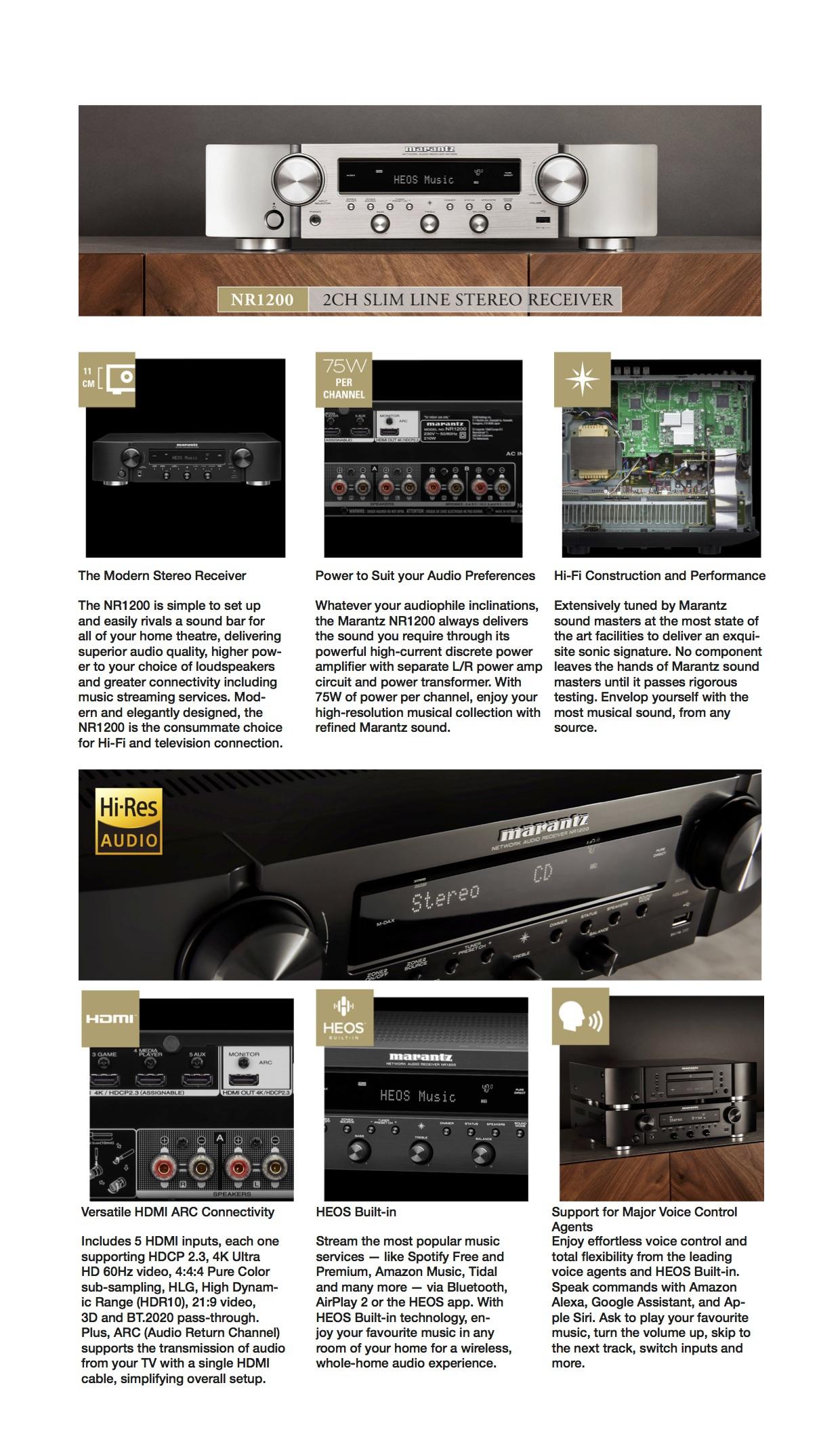 Marantz NR1200 Premium Content